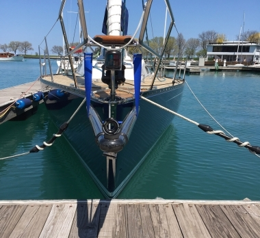 Trogear Custom Bowsprit on Baltic 35, Chicago