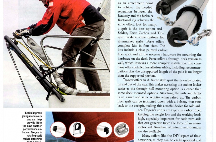 Trogear in Sailing Magazine January 2017 edition